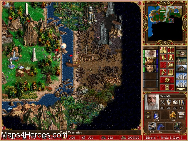 Heroes3  Your opinions about Lord of The Rings v 20  map